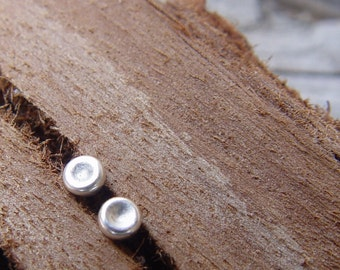 Siver Stud Earrings, Tiny (3mm) Pebble Sterling Silver Post Earrings, Sterling Silver Earring Stud,  Sterling Tiny Studs