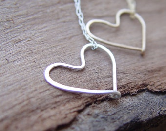 BFF Heart Necklaces, Gold Best Friend Necklaces