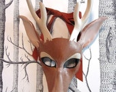 Buck Leather Mask, Adult Size - Made to Order ECO-FRIENDLY Holiday