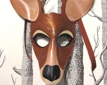 Kangaroo Leather Mask, Child Size - Made to Order ECO-FRIENDLY Holiday