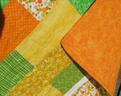 Bright Citrus Colored Quilt