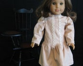 Peach\/Ivory Dress fits American Girl, Rebecca