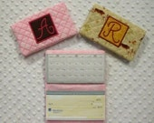 5x7 Quilted Monogram Checkbook Cover In the Hoop Embroidery