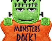 Spooky Sweet Halloween Monster Applique Embroidery Design