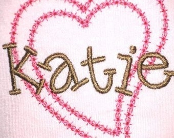 Kiddo Font in 4 Sizes - Machine Embroidery Alphabet