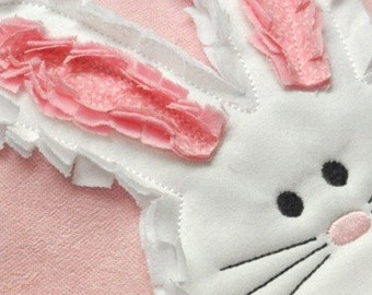 Raggy Easter Bunny Applique Machine Embroidery Design