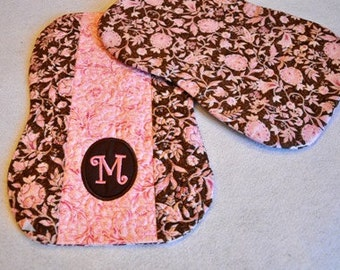 In the Hoop Pieced-Quilted-Monogrammed Burp Cloths Machine Embroidery