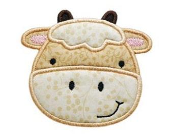 Cow Barnyard Applique - 4 sizes