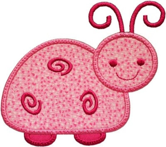 Swirly Sweet Bug Applique Machine Embroidery Design