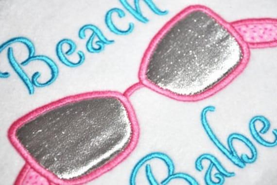 Sunglasses Applique - Girl