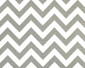 FREE U.S. SHIPPING - Other Colors Available - Set of Two 24x24 inch Designer Pillow Covers - Ash Grey and White Chevron Zig-Zag