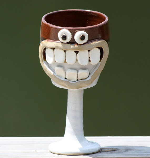 Fun Christmas Goblet. Red and White.