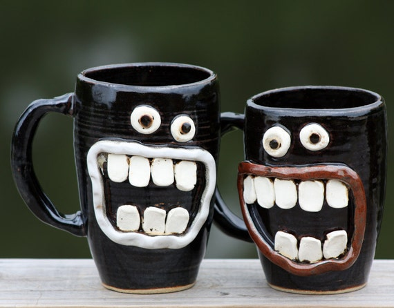 his and hers coffee mugs black and white. Black Bedroom Furniture Sets. Home Design Ideas