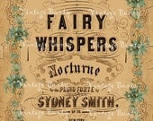 Fairy Whispers Digital Download Collage Sheet/Background Paper