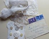 Ephemera, Vintage Lace & Buttons Mixed Media Inspiration Bundle