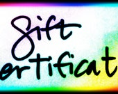 33 Dollar Gift Certificate