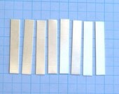 Sterling Silver RECTANGLE Blanks Metal Supply for Pendant Necklaces Tag Strip Sheet 1/4 x 1-1/2 inch 24 gauge Hand STAMPING Jewelry Qty 8
