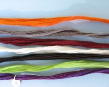 Hand Dyed Silk Necklace for Pendant Charm Bracelet Anklet Sewn Tie Wrist Hair Wrap Orange Grey Red White Black Green Purple