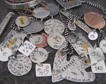LE COEUR VEUT Handmade Sterling Silver Heart Pendant Pendentif en argent Sterling