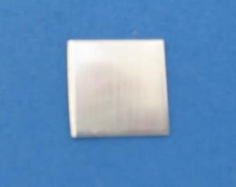 Sterling Silver SQUARE 1 inch 25 mm  Blank Jewelry Making Supply Disk Charm Tag Hand STAMPING Square Blank Sterling Square Disc 1 inch Qty 6