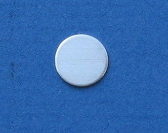 1/2 Inch 24 Gauge Sterling Silver Disc Round Metal Blanks Circle Tag Token Hand Stamping Jewelry Supplies 13mm SMOOTH Quality Qty 25
