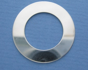 1 inch 20 gauge Sterling Silver Stamping WASHER Disc Blank SMOOTH Burnish Fine Jewelry Making Quality