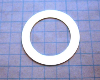 1-1/4 inch 18 gauge Sterling Silver WASHER Blank Open Circle Disc 7/8 Hole Jewlery Supply Hand Stamping for Bracelet Pendant SMOOTH Qty 4
