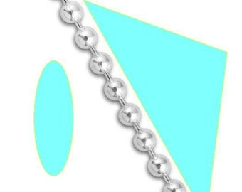 Custom Sterling Silver Bead Chain 1.5mm Ball Necklace Bracelet Anklet 18 inch or less