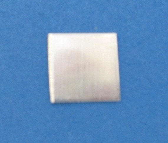 SQUARE Sterling Silver Blanks Discs 1/4 inch 22 gauge Tags Pendant Necklaces Charm Bracelets Connector Links Metal Jewelry Making Supplies