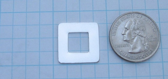 Sterling Silver Square Hand STAMPING Washer Blank 3/4 inch Frame Jewelry Making Supplies Personalized Pendants Connector Link 22 Gauge Qty 4