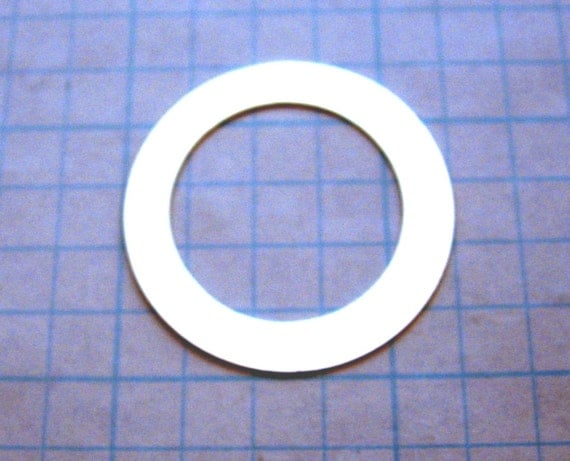1-1/4 inch 20 gauge Sterling Silver WASHER Blank Open Circle Disc 7/8 Hole Jewlery Supply Hand Stamping for Bracelet Pendant SMOOTH Qty 5