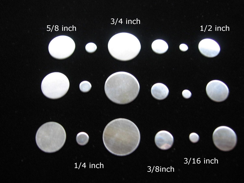 metal stamping blanks 18 piece variety pack circle discs 3 4. Black Bedroom Furniture Sets. Home Design Ideas