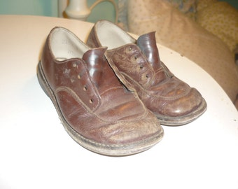 Antique Leather Shoes B. F. Goodrich rubber heal