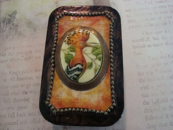 BIRD TIN - Altered Altoid Mint Tin