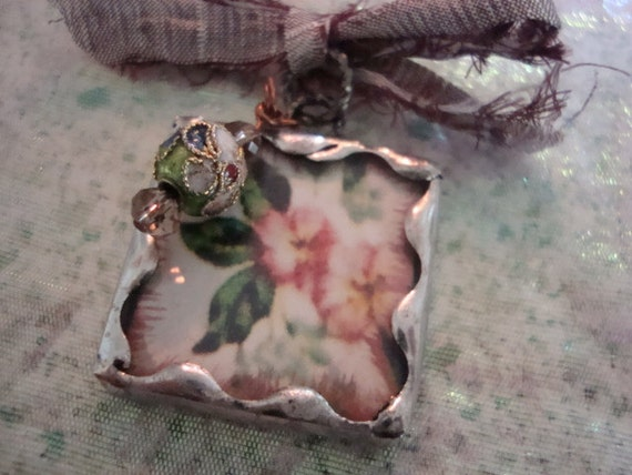 JOY - Soldered Art Glass Pendant or Charm