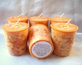 LOT OF 6-PUMPKIN APPLE BUTTER-PALM WAX VOTIVE