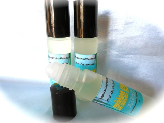 Peppermint/Patchouli scented-roll on Perfume-Alcohol and Paraben free