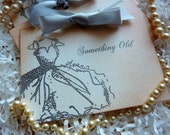 Bridal Cards, Vintage Silver Embossed, Something Old, Something New, Wedding Cards - Set of 4