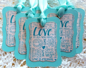LOVE Wedding Wish Tree Tags, Love gift tags, Love Bookmarks, Set of 5