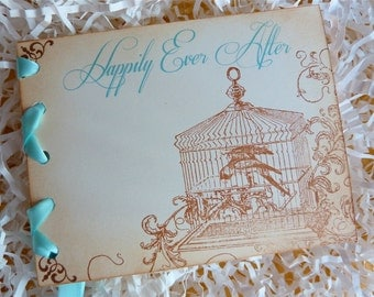 Bridal Shower Invitation, Vintage Fairytale, Happily Ever After StoryBook - Set of 10