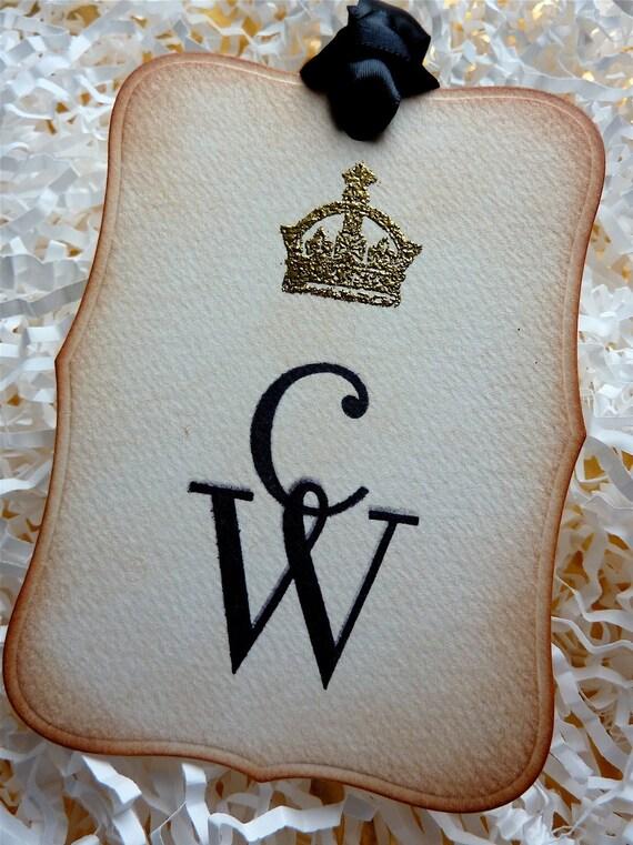 Royal Wedding Wishing Tree Custom Tags Vintage Style/Embossed Set Of 50