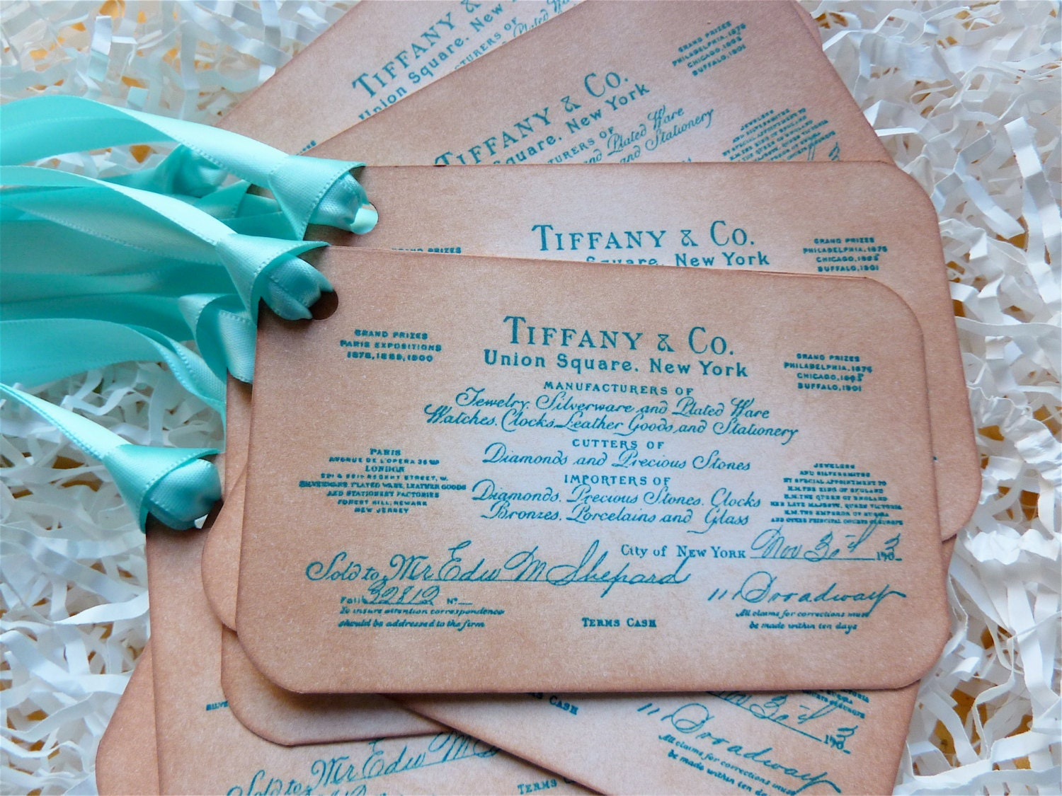 Tiffany And Co Favor Tag Labels Wedding Wish Tree Vintage