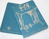 Little Blue Sewing Machine and Spool Pocket Notebook