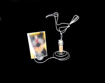 Seagull  Wire  Picture Holder ,Place Card Holder,Sculpture 139
