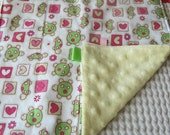 Girly Turtle Busy Blanket