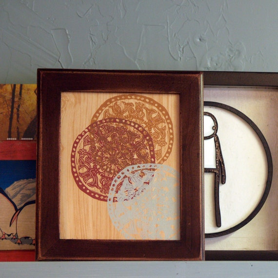 8x10 Picture Frame with Vintage Mahogany  Finish in Outside Cove Style - SAME DAY SHIPPING