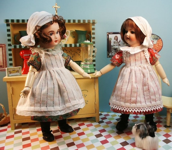Bleuette patterns for doll clothing - AU JARDIN and Elegant TABLIER 1930's styles from Gautier Languereau
