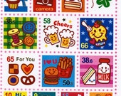 Kawaii Stamp Sticker Sheet