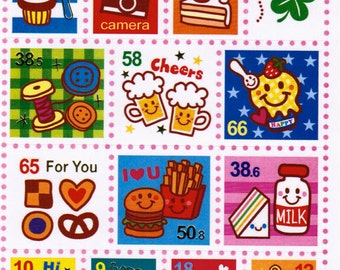 Kawaii Stamp Sticker Sheet