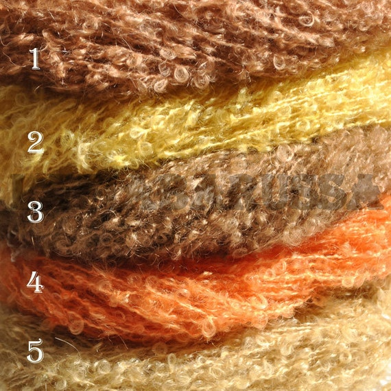100% Super Kid Mohair loopy Yarn - 5 x 1.76 oz,110 yards -  perfect for doll hair